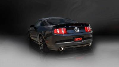 Corsa - Corsa Performance 14320 2011 - 2012 Shelby GT500 Sport Axle-Back Exhaust - Polished  - Image 2