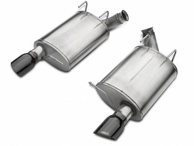 2007 - 2014 Shelby GT500 Exhaust  - 2007 - 2014 Shelby GT500 Axle Back Exhaust  - Corsa - Corsa Performance 14320BLK 2011 - 2012 Shelby GT500 Sport Axle-Back Exhaust with Black Tips