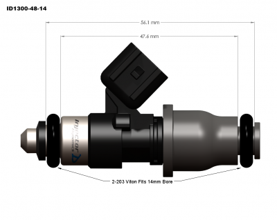 Injector Dynamics - Injector Dynamics ID1300 1300cc Injectors - 48mm Length - Image 2