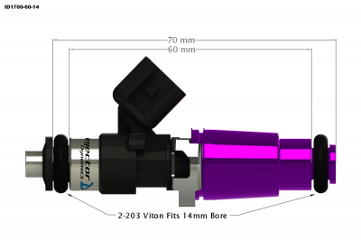 Injector Dynamics - Injector Dynamics ID1700 1700cc Injectors - 60mm Length - Image 3