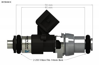 Injector Dynamics - Injector Dynamics ID1700 1700cc Injectors - 48mm Length - Image 3