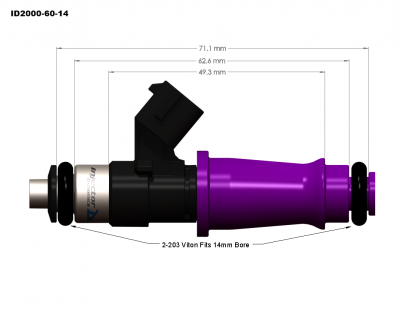 Injector Dynamics - Injector Dynamics ID2000 2200cc Injectors - 60mm Length - Image 3