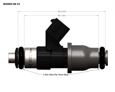 Injector Dynamics - Injector Dynamics ID2000 2200cc Injectors - 48mm Length - Image 2