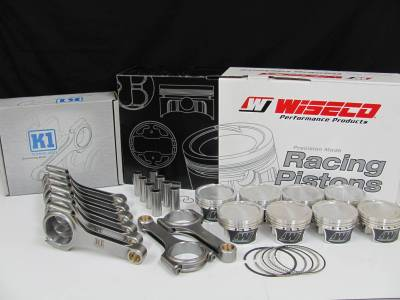 Engine Parts - Rod and Piston Combos - Excessive Motorsports  - 4.6L Wiseco Pistons / K1 H-Beam Connecting Rod Combo