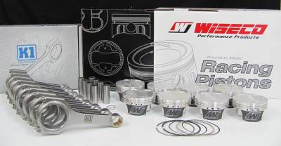 Engine Parts - Rod and Piston Combos - Excessive Motorsports  - 5.0L Coyote Wiseco Pistons / K1 H-Beam Connecting Rod Combo