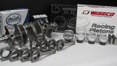 Modular Head Shop - Modular Head Shop 600 HP 5.0L Stroker Rotating Assembly - Eagle Cast Steel Crankshaft, Eagle Forged 4340 H-Beam Rods and Custom Wiseco Pistons - Image 2