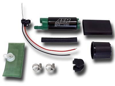 AEM  - AEM 50-1200 320LPH High Flow E85 Compatible In-Tank Fuel Pump - Offset Inlet - Image 1