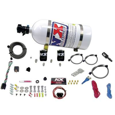 Nitrous Systems and Components - EFI Fogger Nozzle Kits  - Nitrous Express - Nitrous Express 20932-10 - Ford 5.0L Coyote Single Nozzle Nitrous System with 10lb Bottle - (35-150HP)