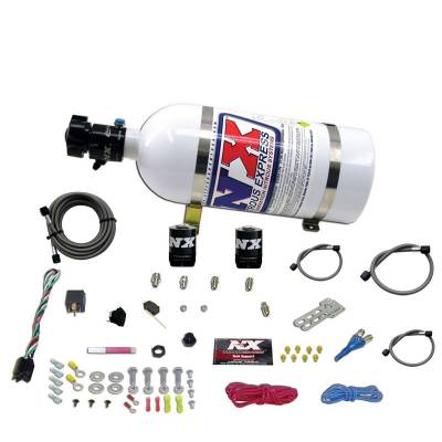 Nitrous Systems and Components - EFI Fogger Nozzle Kits  - Nitrous Express - Nitrous Express 20922-10 - All Ford EFI Single Nozzle Nitrous System with 10lb Bottle - (35-150HP)