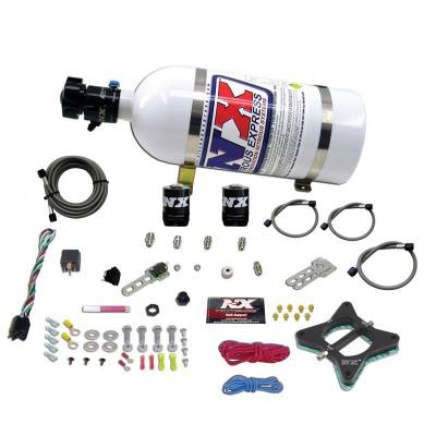 Nitrous Systems and Components - Nitrous Plate Kits  - Nitrous Express - Nitrous Express 20946-10 - Ford 4.6L 2V Nitrous Plate System with 10lb Bottle (50-150HP)