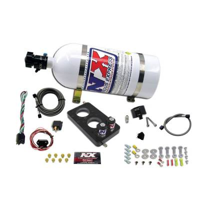 Nitrous Systems and Components - Nitrous Plate Kits  - Nitrous Express - Nitrous Express 20947-10 - Ford 4.6L 3V Nitrous Plate System with 10lb Bottle (35-150HP)