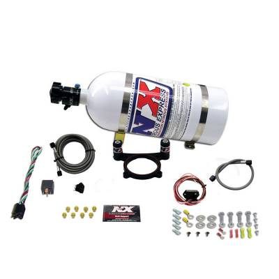 Nitrous Systems and Components - Nitrous Plate Kits  - Nitrous Express - Nitrous Express 20948-10 - Ford 5.0L Coyote Nitrous Plate System with 10lb Bottle - (35-200HP)