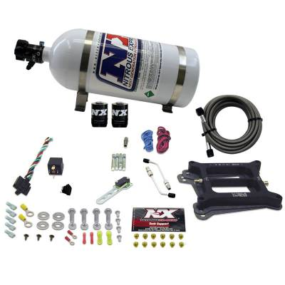 Nitrous Express 30040-10 - 4150 Plate System For The Edelbrock Victor Jr Manifold (50-300HP)