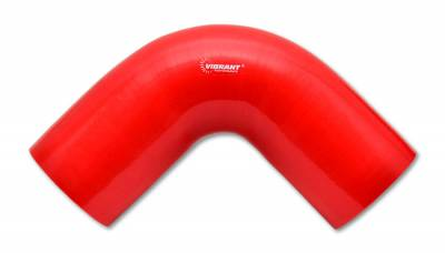 "4 Ply Reinforced Silicone Couplers  - 90 Degree Elbows - Vibrant Performance - Vibrant Performance 2843R - 90 Degree Elbow, 1.75"" ID x 4"" Leg Length - Red"