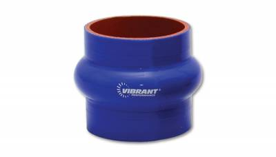 "4 Ply Reinforced Silicone Couplers  - Hump Hose Couplers - Vibrant Performance - Vibrant Performance 2729B - Hump Hose Coupler, 1.5"" ID, 3"" Length - Blue"