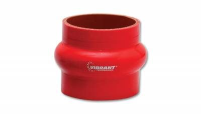 "4 Ply Reinforced Silicone Couplers  - Hump Hose Couplers - Vibrant Performance - Vibrant Performance 2730R - Hump Hose Coupler, 2"" ID, 3"" Length - Red"