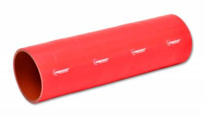 """Vibrant Performance 27031R - Straight Hose Coupler, 1.5"""" ID, 12"""" Length - Red"""