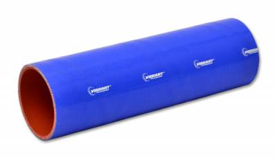 "Straight Hose Couplers  - 12 Inch Straight Hose Couplers - Vibrant Performance - Vibrant Performance 27111B - Straight Hose Coupler, 2.5"" ID, 12"" Length - Blue"