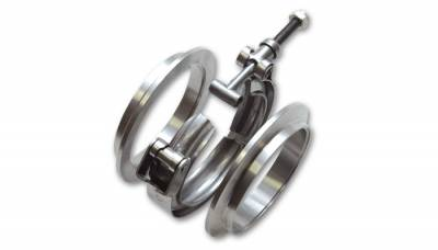 "V-Band Flanges and Clamps - Aluminum V-Band Assemblies  - Vibrant Performance - Vibrant Performance 11493 - Aluminum V-Band Flange Assembly, For 4"" OD Tubing"