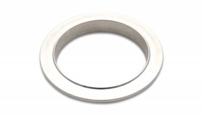 "V-Band Flanges and Clamps - Stainless Steel V-Band Flanges - Vibrant Performance - Vibrant Performance 1489M - 304 Stainless Steel Male V-Band Flange, For 2.25"" OD Tubing"