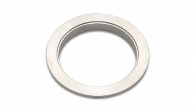 "V-Band Flanges and Clamps - Stainless Steel V-Band Flanges - Vibrant Performance - Vibrant Performance 1494F - 304 Stainless Steel Female V-Band Flange, For 5"" OD Tubing"