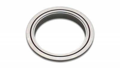 "V-Band Flanges and Clamps - Aluminum V-Band Flanges - Vibrant Performance - Vibrant Performance 11492F - 6061 Aluminum Female V-Band Flange, For 3.5"" OD Tubing"
