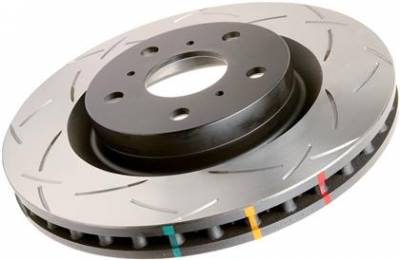 Brake Rotors  - 2005 - 2010 Mustang GT  - Disc Brakes Australia  - DBA 42124S - Slotted 4000 Series Rotors - 2005 - 2010 Mustang GT Shelby Edition - Front