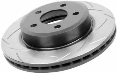 Brake Rotors  - 2011 - 2014 Mustang V6  - Disc Brakes Australia  - DBA 2113S - Slotted Street Series Rotor - 2005-2010 Ford Mustang V6 / GT And 2011-2013 V6 - Front
