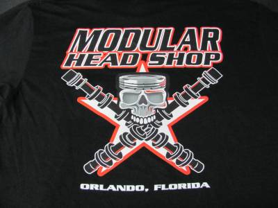 Excessive Motorsports  - Modular Head Shop Men's Skull T-Shirt - Image 3