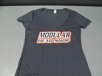 Excessive Motorsports  - Modular Head Shop Ladies Skull V-Neck - Image 2