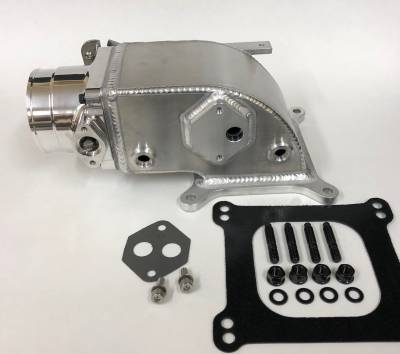 Intake & Components - Throttle Bodies & Plenums - Modular Head Shop - 75mm Elbow / Throttle Body Combo for 2V Edelbrock Victor Jr.