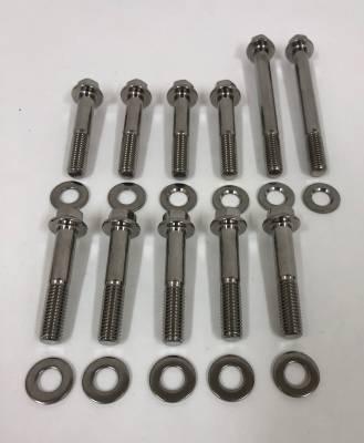 Fuel System - Fuel Rails - Modular Head Shop - MHS ARP Stainless Steel Intake Manifold Bolt Kit for 2V Edelbrock Victor Jr.