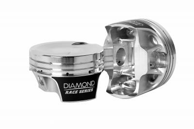 "Diamond Racing Products - Diamond 30314-RS - Mod2k Race Series Piston / Ring Set for Ford 4.6L 2V TFS Heads -17.5cc Dish, 3.572"" Bore, 3.750"" Stroke, 1.200"" CD"