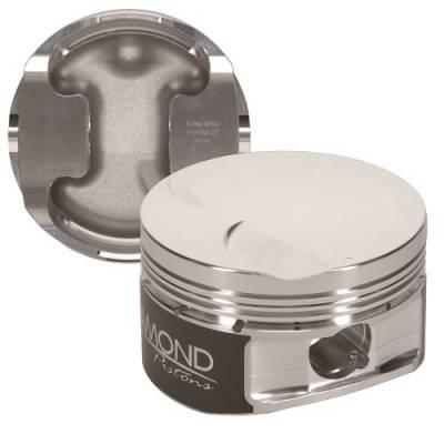 "Diamond Pistons - 4.6L 2V PI Competition Series Pistons  - Diamond Racing Products - Diamond 30409-R1 Ford 4.6L 2V Competition Series Piston / Ring Kit -11.5cc Dish, 3.552"" Bore"