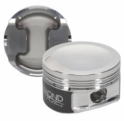 "Diamond Pistons - 4.6L 3V Competition Series Pistons  - Diamond Racing Products - Diamond 30432-R1 Ford 4.6L 3V Competition Series Piston / Ring Kit -9.5cc Dish, 3.572"" Bore"