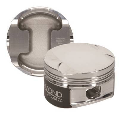 "Diamond Pistons - 4.6L 4V Competition Series Pistons  - Diamond Racing Products - Diamond 30414-R1 Ford 4.6L 4V Competition Series Piston / Ring Kit -2.0cc Flat Top, 3.572"" Bore"