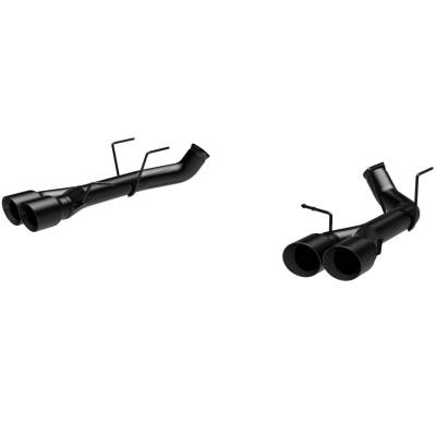 2007 - 2014 Shelby GT500 Exhaust  - 2007 - 2014 Shelby GT500 Axle Back Exhaust  - Magnaflow - Magnaflow 15177 2013 - 2014 Shelby GT500 Quad Split Tip Race Series Axle Back Exhaust - Black