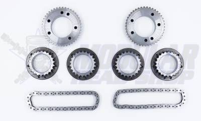 Timing Chains, Sprockets, Guides and Tensioners - 5.0L Coyote - Modular Head Shop - MHS 5.0L GEN 2 Competition Billet Primary and Secondary Sprocket Kit