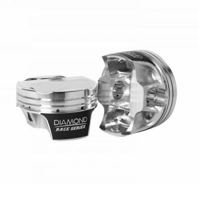 """Diamond 30340-RS - Mod2k Race Series Piston / Ring Set for Ford 5.0L Coyote  +1.8cc Dome, 3.630"""" Bore"""