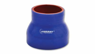 """Vibrant Performance 2837B - Reducer Coupler, 4"""" Inlet, 4.5"""" Outlet x 3"""" Length - Blue"""